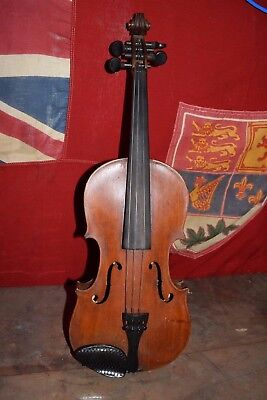 Antique Violin w/ Wooden Case ( For Repair ) Glass ?