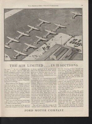 1929 Ford Motor Aircraft Plane Fly Travel Airport Wing Gambill Passenger I16950