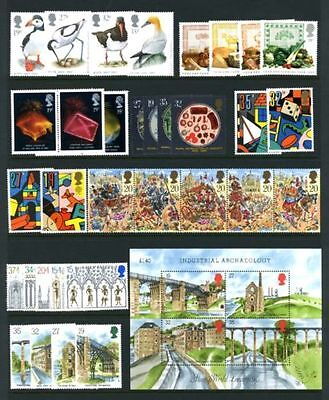 SG1419-22/28-66 1989 GB COMMEMORATIVES YEAR SET ~ 8 Sets+M/SHEET Unmounted Mint.