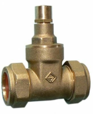 22mm Economy Lockshield Gate Valve - PACK OF 2