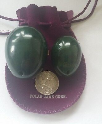Polar Jade Nephrite Jade Eggs for Training Pelvic Floor Muscles (2 Pieces of 2