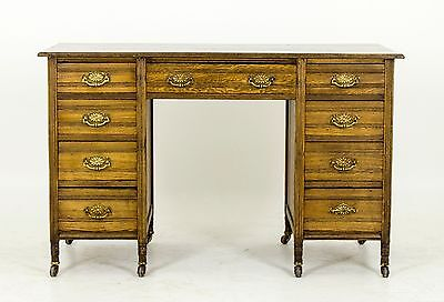 Antique Writing Table | Pedestal Library Desk | Victorian, Scotland 1880 | B497