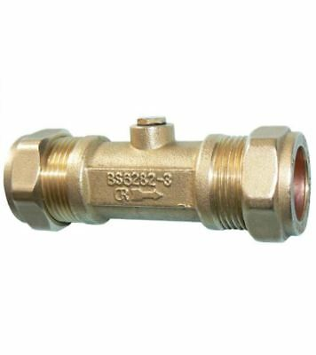 28mm Double Check Valve - DZR Compression - PACK OF 2