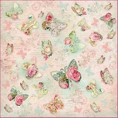 Rice paper 50х50 cm. BUTTERFLY Decoupage. scrapbooking. crafts. STAMPERIA