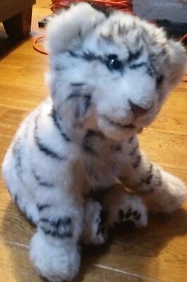 "WowWee Siberian White Tiger 2007 Interactive with Sound Plush Stuffed 15"" TOY"