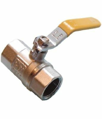 """3/8"""" Lever Ball Valve - Yellow Handle - PACK OF 2"""