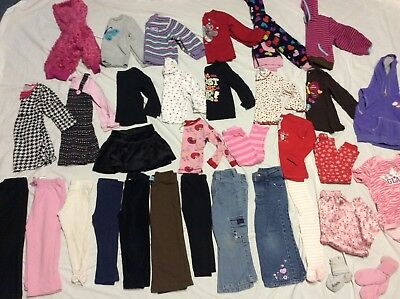 TODDLER GIRLS LOT OF 33 pc CLOTHES SIZE 24 MO./2T  Girls WINTER clothes lot 3