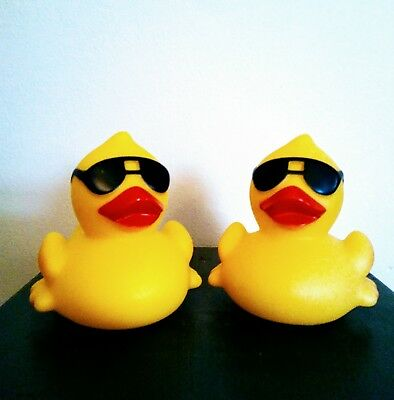 Set of 2 Yellow Rubber Duckies LED/Floatable/Nightlite