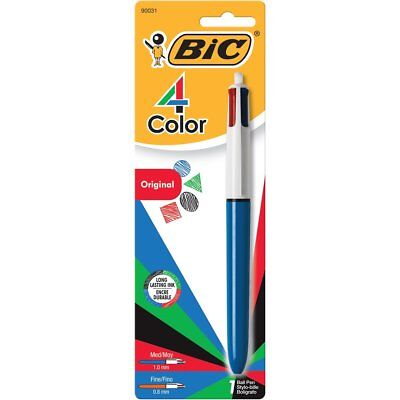 Bic 4-Color Grip Retractable Ballpoint Pen Red Blue Black Green Quality Cheap