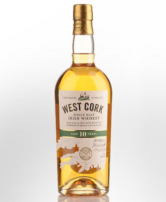 West Cork 10 Year Old Single Malt Irish Whiskey (700ml)