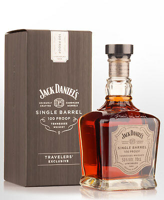 Jack Daniels Single Barrel 100 Proof Travelers' Exclusive Tennessee Whiskey (...