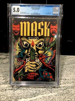 Mask Comics 1 CGC 5.0 L.B. Cole Extremely Rare