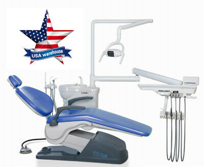 【USA Shipping】Computer Controlled Dental Chair Unit A1 M4 Sky Blue Hard leather