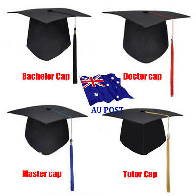 Mortarboard Graduation Hat Academic Cap Bachelor Master Chancellor Hot Sale BO