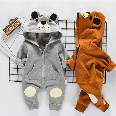 AU Stock Newborn Baby Clothes Sets Girl Boy Romper Winter Outwear Outfits 0-24M