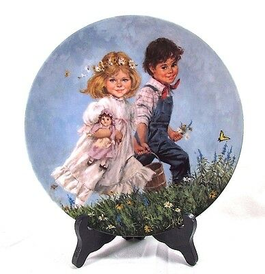 """Vintage 1986 RECO Plate Collection """"  JACK and JILL """" By  JOHN McCLELLAND 8.5"""""""