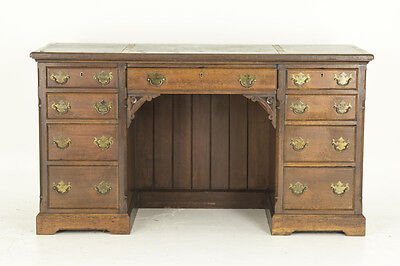 Antique Mahogany Desk | Double Pedestal Desk | Scotland 1880 | B539