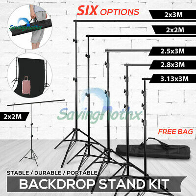 Photography Studio Heavy-Duty Backdrop Stand Background Support Screen Stand Kit