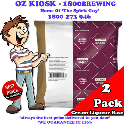 CREAM LIQUEUR BASE 400G x 2 PACK PROMO @ $12.99 By STILL SPIRITS