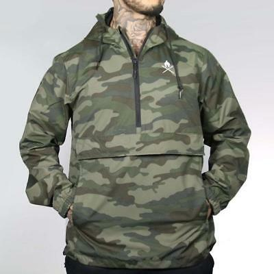 New  Versus Recon Camo Anorak Windbreaker Jacket