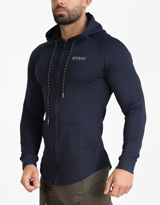 New  ECHT Force Dry Zip-Up Hoodie - Navy