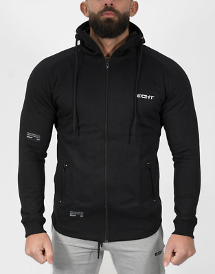 New  ECHT Relay Zip Up Hoodie - Stealth Black
