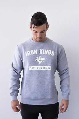 New  Iron Kings White Knight Crew Neck Sweater