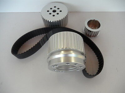 Ford Cleveland 302-351 Gilmer Pulley Drive Kit + 390 Belt,p/steer Or A/c Pulley