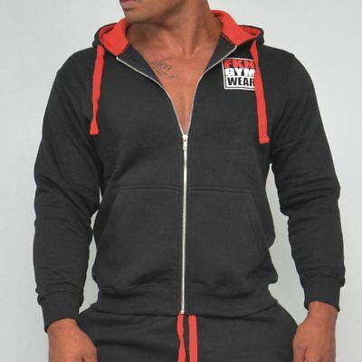 New  FKN Gym Wear Zip Up Hoodie - Black