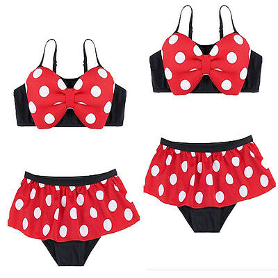 AU Stock Baby Kids Baby Girl Polka Dots Bikini Swimwear Swimsuit Costume Bathing