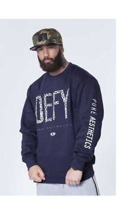 New  Pure Aesthetics DEFY Classic Crew Neck – Navy