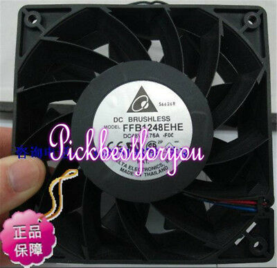 Delta FFB1248EHE fan 48V 0.75A 120*120*38mm 4pin #M2585 QL