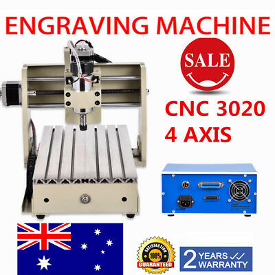 4AXIS CNC 3020 Router 3D Engraver Engraving Machine Milling Carving Cutter MACH3