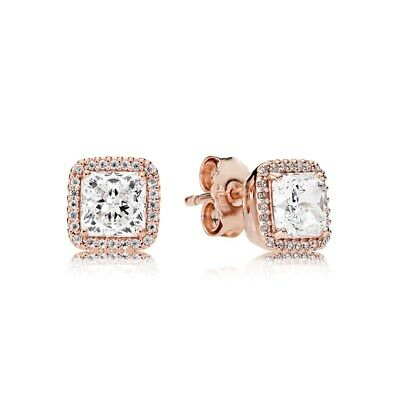 Authentic Pandora  Rose Gold Timeless Elegance Earrings 280591CZ