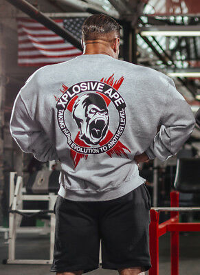 New  Xplosive Ape Classic Sweat Shirt - Grey