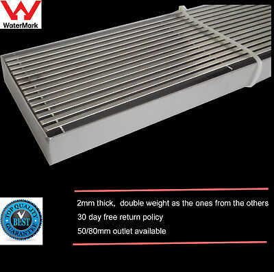 """Fence SWORD Stainless Steel Linear Shower Bathroom Grate Drain Waste """"2mm thick"""""""