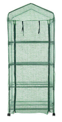 Portable Mini Walk In Greenhouse 4 Shelves Hot House Gardening Plant Outdoor New
