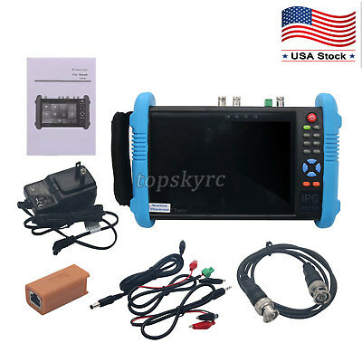 """IPC9800Plus ADHS 7"""" IP CCTV 4K IP Camera Tester Monitor Support Wifi Android US"""