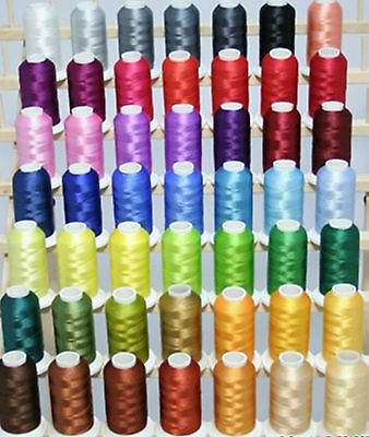 Embroidery Machine Viscose Rayon Silk Threads 2500 yards Each BUY 2 & GET 1 FREE