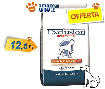Exclusion Diet Metabolic & Mobility Medium / Large Breed Maiale e Fibre 12,5 kg.