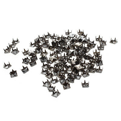 100 X supports Rivets 5mm Pointes carres gris fonce Sac / Chaussures / Gants Y9O