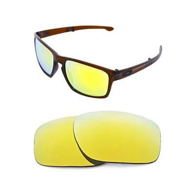 da5fb3bf4a2 New Polarized 24K Gold Replacement Lens For Oakley Sliver Sunglasses