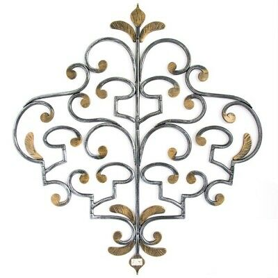Coat hangers CLOTHES HOOK WROUGHT IRON CONCEALED 5 PLACES BLACK GOLD WALL