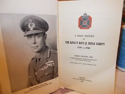 A Brief History Of The King's Royal Rifle Corps 1755-1948
