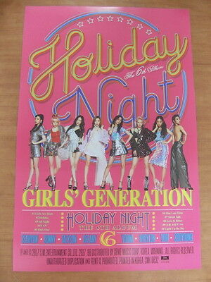 SNSD GIRLS' GENERATION - Holiday Night (Holiday Ver.) [OFFICIAL] POSTER K-POP