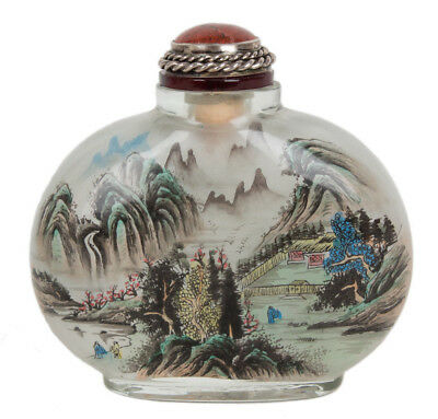 China 20. Jh. Glas - A Chinese Glass Snuff Bottle - Tabatiere Chinois Cinese
