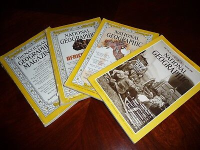 4X NATIONAL GEOGRAPHIC Magazines - April 1953, Sept 1960, Nov 1961 and Aug 1986
