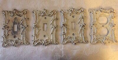 Lot of Vintage Ornate Metal Decorative Outlet Switch Plate Covers