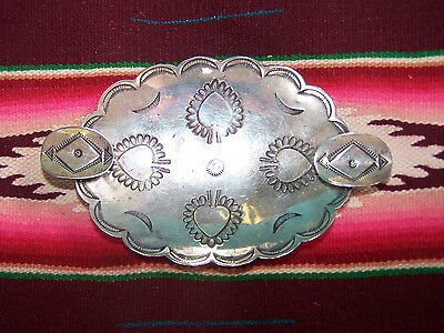 1950 Sterling Silver Native American Stamped Flaming Heart Ashtray Trinket Bowl