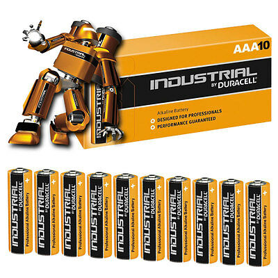 10 x Duracell INDUSTRIAL AAA Alkaline Batteries LR03 MN2400 Replaces Procell AAA